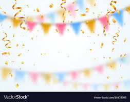 Celebration Background Template Golden Confetti