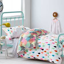 adairs kids girls raindrop confetti bedroom quilt covers coverlets adairs kids olivia s pick fits her brief of colourful and rainbows haha