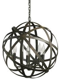 metal orb chandelier decorist