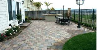 average patio cost to build a brick pave backyard patios company we per square metre over