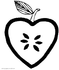 Small Picture Simple coloring page for preschool Heart shaped apple