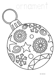 Christmas Ornament Coloring Page ornaments free printable christmas  coloring pages for kids paper for kids