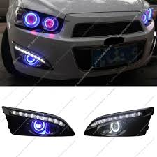 Chevrolet Sonic Lights Details About Drl Daytime Day Fog Lights Cob Angel Eyes H For Chevrolet Sonic Aveo 2011 2013