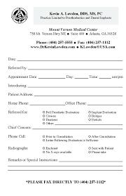 dental referral form template referral form template client referral form sample referral form