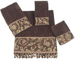 decorative bath towels purple. Decorative Hand Towels Purple White With Black Trim Patterned And Gold Quick Dry Bath