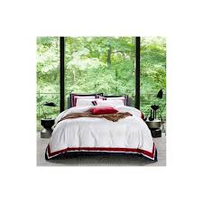 5 star hotel white luxury 100 egyptian cotton bedding sets full queen king size duvet cover bed flat sheet fitted sheet set pil color 1 size queen flat