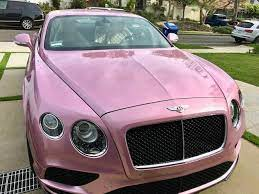 Luxury meets playful and chic. This pink Bentley is the only one in the  nation #bentley #pink | Pink bentley, Luxury cars, Dream cars