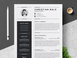 Dribbble 01clean Professional Creative And Modern Resume Cv