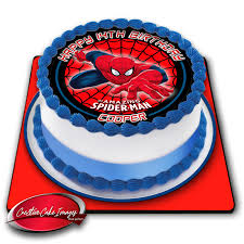 Spiderman Edible Icing Image Cake Topper Personalised Birthday