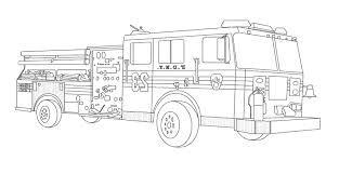 Fire Truck Coloring Page About Fire Truck Coloring Pages Templates