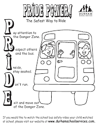 Small Picture Pride Power Coloring Sheet School Bus Safety KID ZONE http