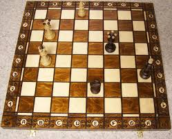 chess set with wood board storage box solid wood pieces 2 5 8 kings new