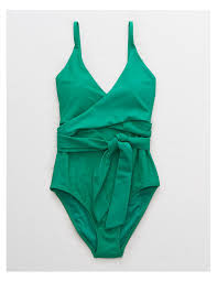 Aerie Size Chart Swim Aerie Wrap One Piece Swimsuit In 2019 Green One Piece