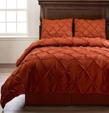orange bedding bed