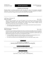 Sample Resume Objective Accounting Position Gallery For