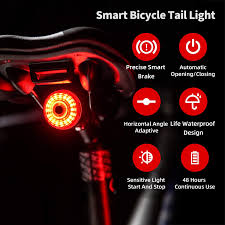 <b>Smart Bicycle</b> Light LED USB Rechargeable Rear <b>Tail Light</b> ...