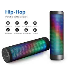 Can Light Speakers Details About Bluetooth 4 0 Wireless Dsp Speaker Dazzle Led Light Powerful Sound W Mic Us