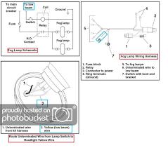motorcycle fog light wiring kit