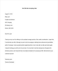 Rejecting A Job Offer After Accepting It Reject Offer Letter Hudsonhs Me