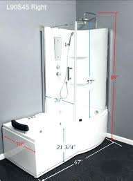fiberglass shower with seat one piece shower tub units medium size of right tub shower combo