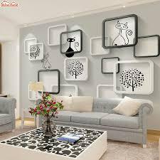 Shinehome Zwart Wit Cartoon Auto Frames Foto Behang 3d Voor