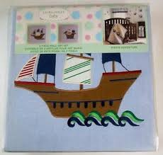 image is loading laura ashley baby pirate adventure 2 piece wall  on laura ashley wall art ebay with laura ashley baby pirate adventure 2 piece wall art set