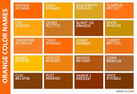 orange color names