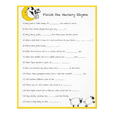 Nursery Rhyme Riddles  Baby Shower Ideas  PinterestBaby Shower Games Nursery Rhymes