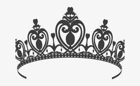 elegant princess crown wall decal