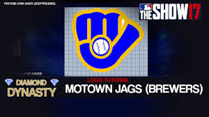 milwaukee brewers retro logo. mlb the show 17 - motown jaguars (brewers throwback) logo editor tutorial milwaukee brewers retro