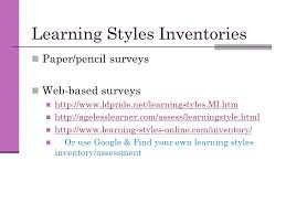 paper on learning styles term paper on learning styles