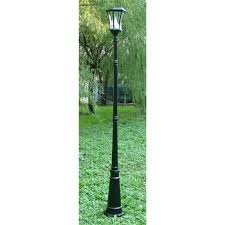 gama sonic 7 solar single lamp post