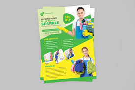 Cleaning Brochure Cleaning Flyer Template On Student Show