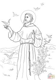 Peace Prayer Of St Francis Coloring Page Free Printable Coloring