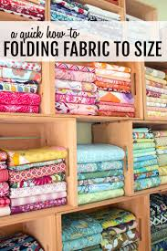 Best 25+ Fabric storage ideas on Pinterest | Store fabric ... & Folding Fabric to Size - A Tutorial Adamdwight.com