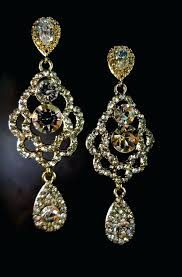 gold chandelier earrings edrexco with regard to popular household gold chandelier earrings ideas