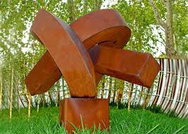 abstract rusted metal sculpture