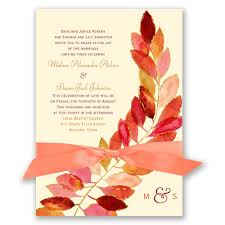 Fall Invitation Feathered Fall Invitation Invitations By Dawn
