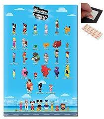 Disney crossy road secret characters. Amazon Com Disney Crossy Road Characters Poster 91 5 X 61cms 36 X 24 Inches Posters Prints
