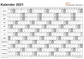Es können bis zu 12 mitarbeiter auf einer seite eingetragen werden. Excel Kalender 2021 Kostenlos