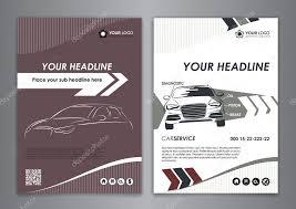A5 A4 Set Service Car Business Card Templates Auto Repair Leaflet