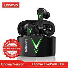 Lenovo LivePods LP6 TWS oyun Bluetooth kulaklık düşük gecikme kablosuz  kulaklık Mic ile 3D Stereo bas gerçek kablosuz kulaklıklar|Bluetooth  Earphones & Headphones