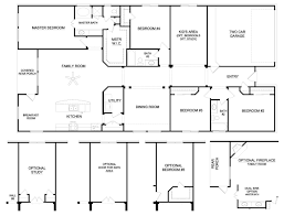 Small Four Bedroom House Plans Stunning 4 Bedroom Ranch House Plans On Small Apartment Decoration