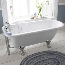premier 1700 luxury single ended freestanding bath with chrome leg set at victorian plumbing uk