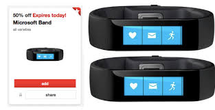 Target Microsoft Band Target Cartwheel 50 Off Microsoft Bands Today Only 25 Off