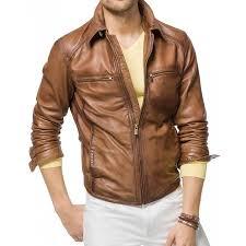 men s biker designer tan brown leather jacket zoom men s