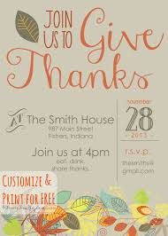 Free Dinner Invitation Templates Printable Extraordinary Free Thanksgiving Invitation Templates New Printable Template Fall