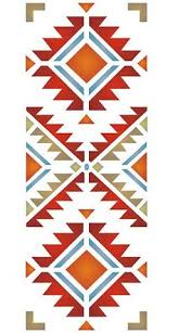 Navajo Native American Stencils  The Four Corners Stencil Is A Stylish Simple Pattern Motif Design Ideal As Single And For Repeating