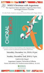 Christmas Concert Poster Uofa Augustana News Events 12 02 Dec 2 Christmas Concert 2018