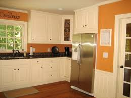 Orange And White Kitchen Kitchen With White Cabinets And Orange Walls Yes Yes Go